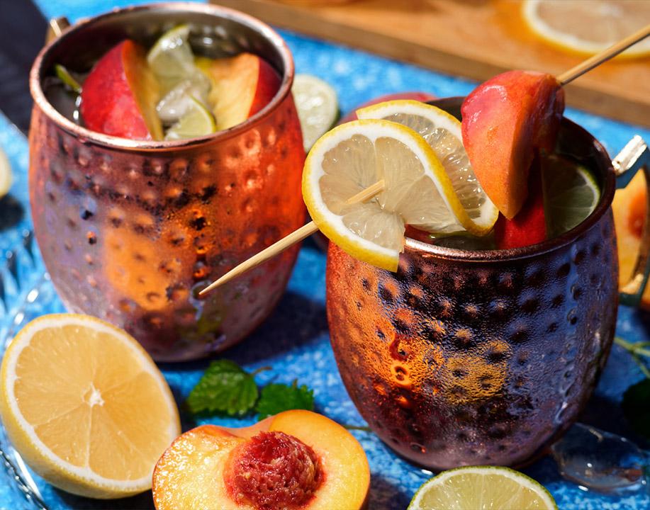 Caramel Apple Moscow Mule con Vodka Sharuska Destilerías Espronceda